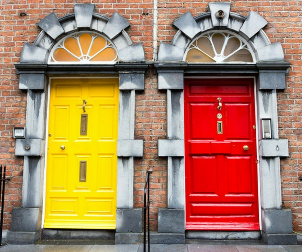 dublin walking tours gregorian doors.